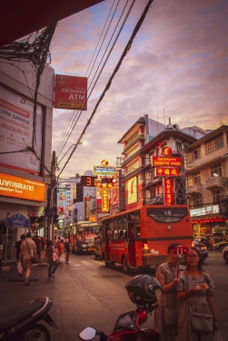 China Town in Bangkok as dusk